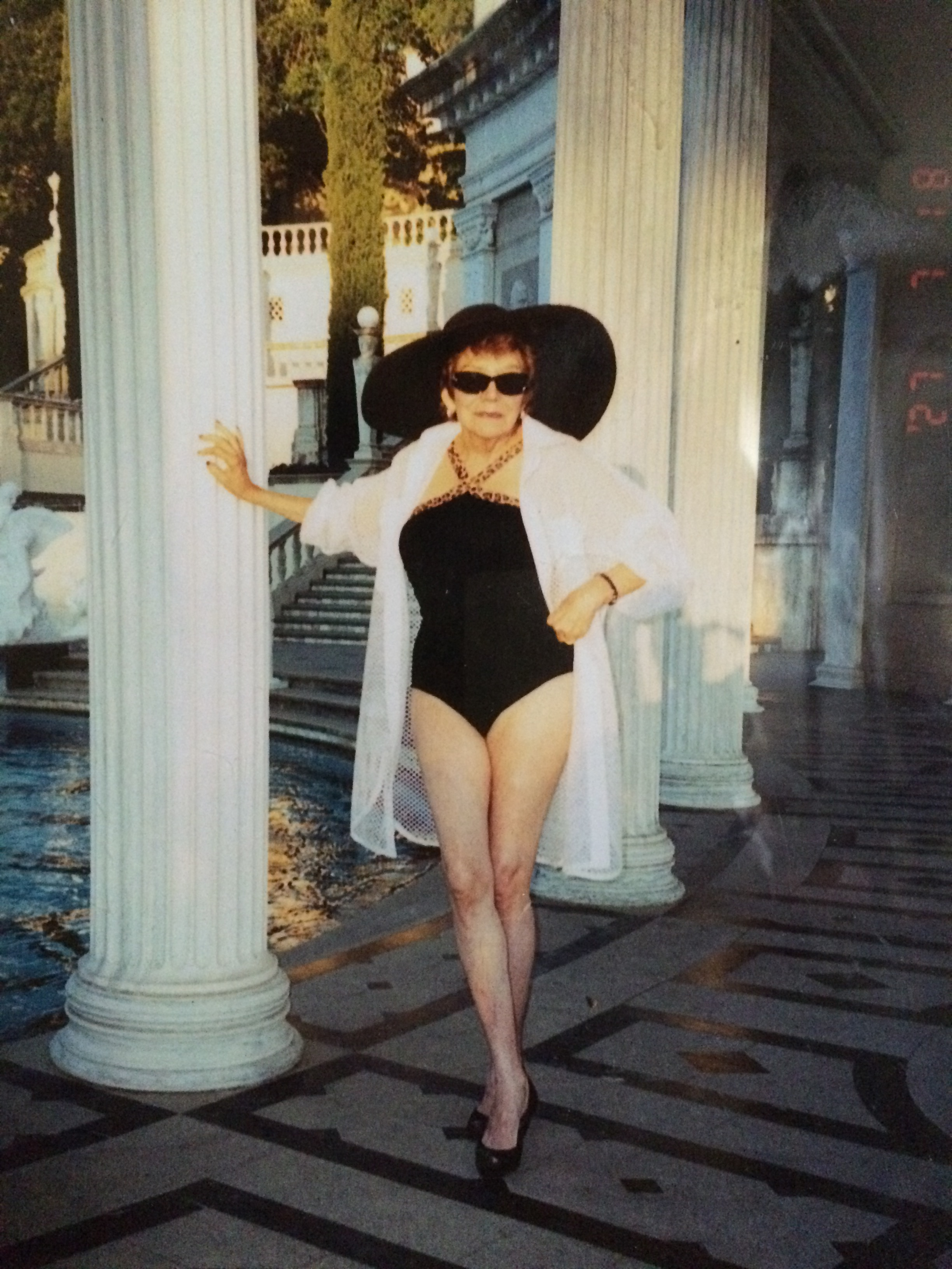 Sally at Hearst Castle at 80!
