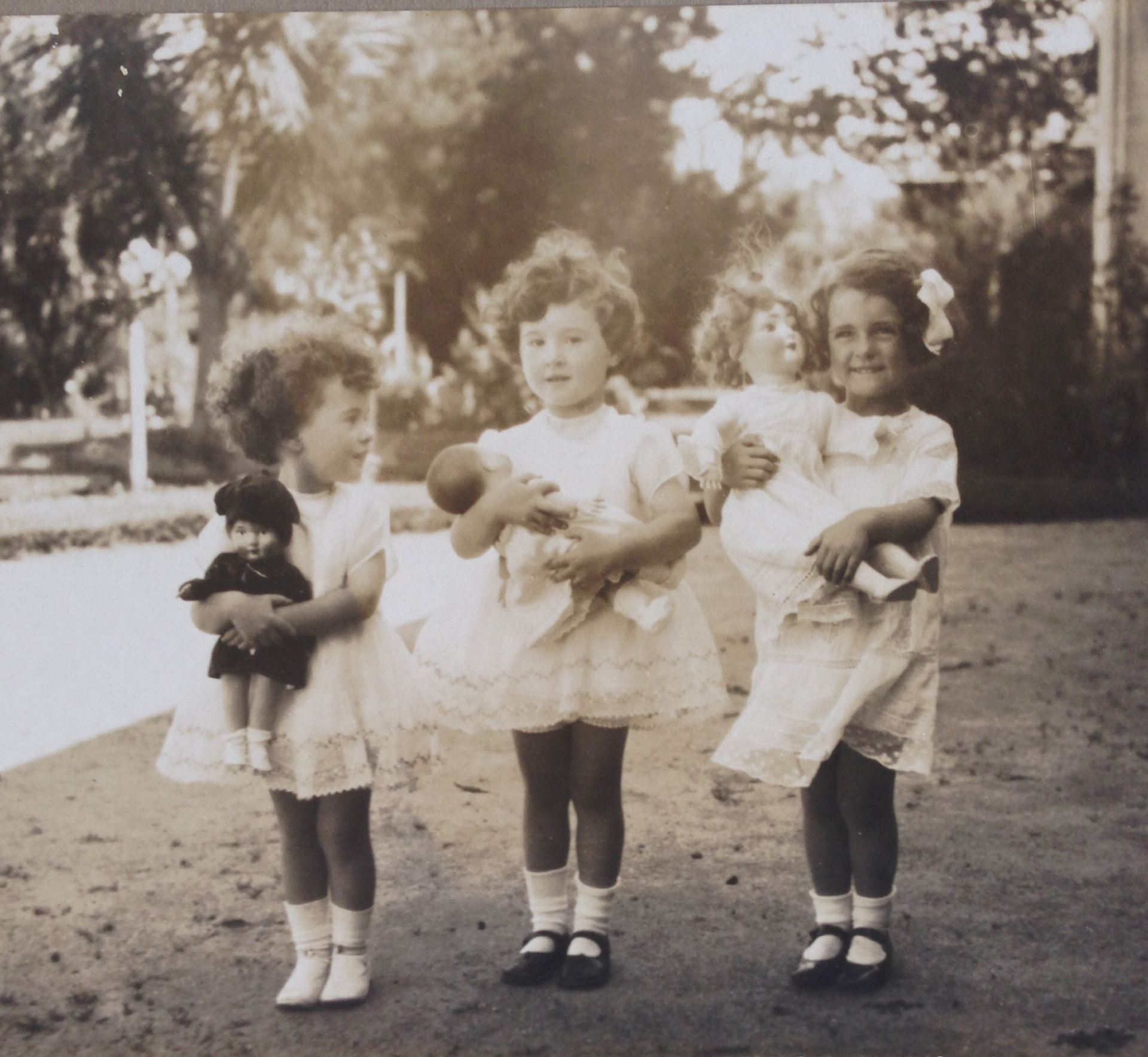 Barbara on far right with childhood friends