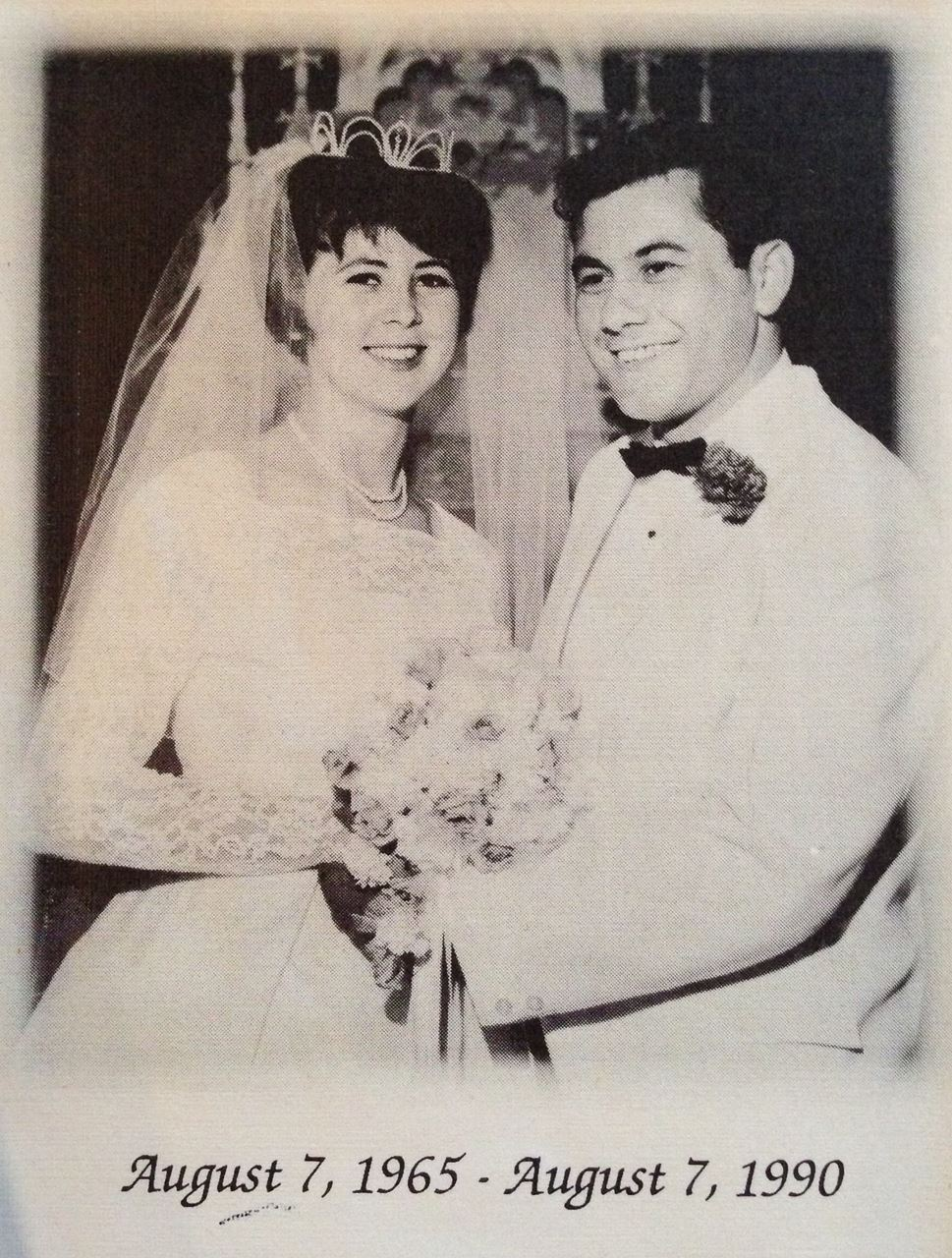 Sandi and Ron on their wedding day!